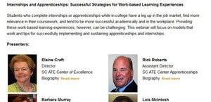 "SMART Center PI Participates in ""Internships and Apprenticeships"" Webinar"