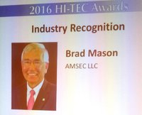 Photo for SMART Center Co-PI Brad Mason Awarded 2016 HI-TEC Industry Partner Recognition